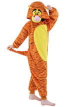 Children onesie halloween costume Unisex kids jumpsuits jumper tiger pajama - $31.99
