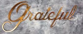 "Metal Wall Art Decor Grateful  Copper/Bronze 12"" x 5"" - $12.86"