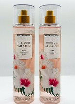 2-Pack Bath Body Works HIBISCUS PARADISE Fine Fragrance Mist Spray 8 fl.oz - $27.67