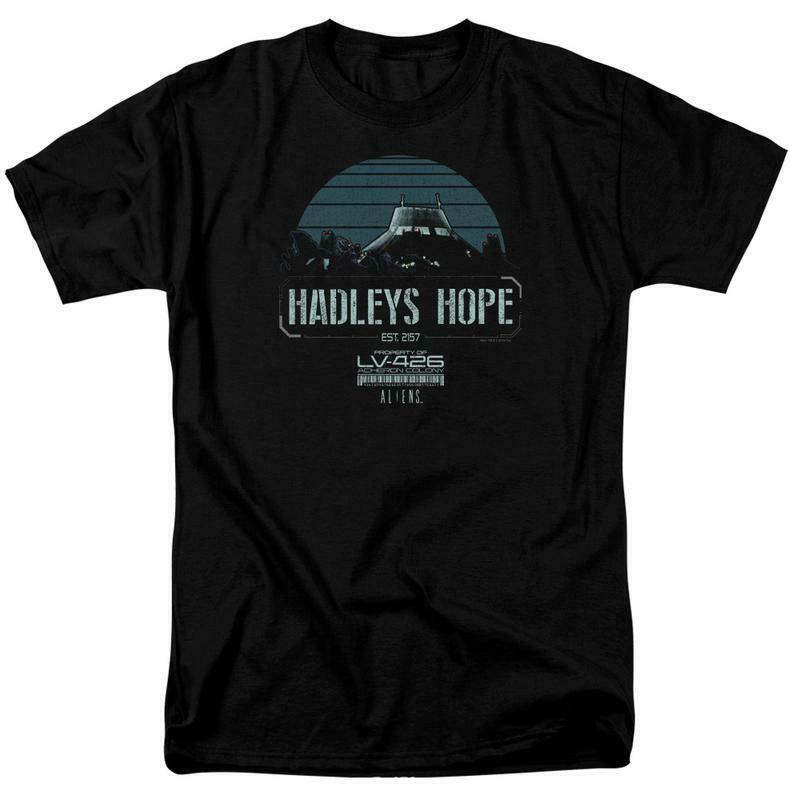 Aliens t-shirt Hadleys Hope LV-426 retro 80s Sci-Fi film graphic tee TCF672