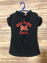 CHEEKIE PEACH 5T OLE MISS REBELS DRESS POLYESTER COTTON BLEND FLEECE NWT - $9.75