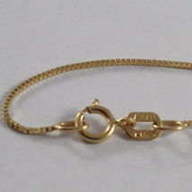 18K YELLOW GOLD CHAIN MINI 0.7 MM VENETIAN SQUARE LINK 23.62 INCH. MADE IN ITALY image 4