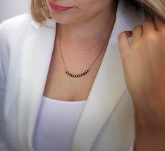 Garnet necklace,semiprecious necklace,gold necklace,stone beaded necklace - $49.00+