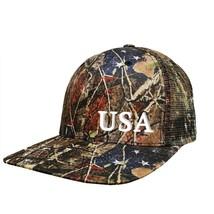 Liberty Camouflage™ Mesh Cap - 'USA' 3D Emrbroidery - $25.00