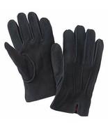 Dockers Mens Black Suede Sueded Deerskin Knit Lined Performance Gloves - $39.99