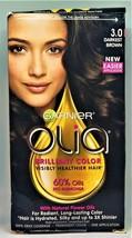 Garnier Olia Ammonia-Free Dye Permanent Hair Color #3.0 Darkest Brown Da... - $11.94