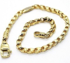 SOLID 18K YELLOW GOLD BRACELET, 21 CM, 8.3 INCHES, 3 MM DROP TUBE LINK, POLISHED image 1