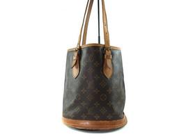 Auth LOUIS VUITTON BUCKET PM Monogram Canvas Leather Tote Bag Shoulder B... - $195.00