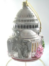 Mercury Glass Ornament  Washington D.C. Capitol Bldg Noble Gems New in box - $24.70