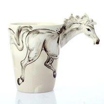 3D Horse Handmade Ceramic Creative Mug Cup Cute Animals Shaped 300-400ml - $23.99