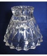 Candle Windsor Jeannette Glass Single Clear  - $15.00