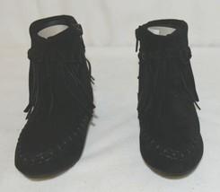 I Love Yo Kids AVA 92T Girls Fringe Boot Black Zip Up Size Seven image 2
