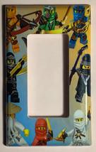 Ninjago Ninja characters Light Switch Outlet wall Cover Plate Home decor image 2