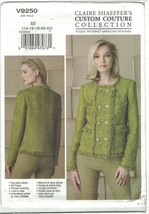 Vogue Claire Shaeffer 9250 French DB Cardigan Jacket Pattern Choose Size... - $14.51