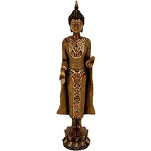 "Oriental Furniture 20"" Standing Thai Buddha Statue - $59.82"