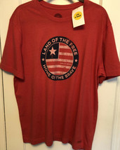"""Life is Good Men's Large Graphic T-shirt """"Land of the Free Home of the B... - $24.74"""