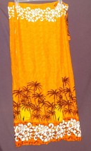 Swimsuit Full Wrap Cover-Up Orange White Hibiscus Flowers Palm Tress Siz... - $19.99