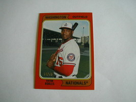 2020 TOPPS ARCHIVES VICTOR ROBLES CARD #194 RED PARALLEL SER. 74/75 NATI... - $4.94