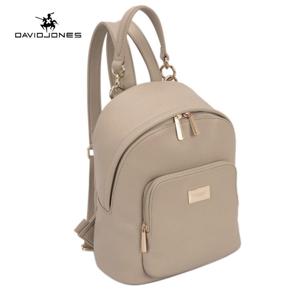 Women Backpacks DAVIDJONES PU Leather Backpacks Female School Shoulder FREE SHIP