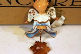 "Christmas Ornaments - WHOLESALE- Russ Berrie #6837- 3 ANGELS- ""DANIEL""- New - $5.14"