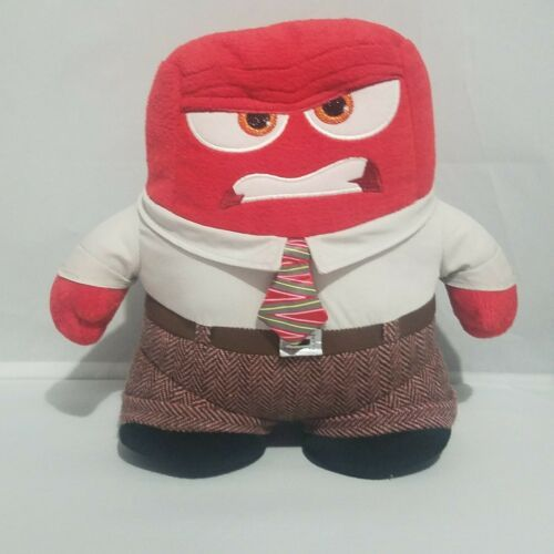 Primary image for Disney Store Inside Out Plush Anger Stuffed Doll 9'' Red Toy Tie Business Shirt