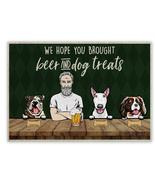 Grumpy Old Man Beer And Dog Welcome Personalized Doormat | Welcome Mat | House W - £21.65 GBP - £28.88 GBP
