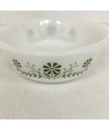 Vintage glasbake casserole dish white with green daisy pattern made in USA - $24.70