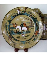 Antique Buffalo Ware by Deldare~Plate~The Fallowfield Hunt-The Start~190... - $61.88