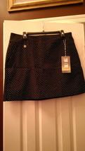 Nwt Ladies Swing Control Lisette Sport Black White Polka Dot Golf Skort Size 16 - $52.99