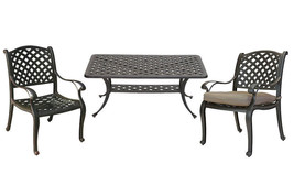 3 piece patio bistro set Nassau outdoor coffee table and chairs Desert B... - $737.55