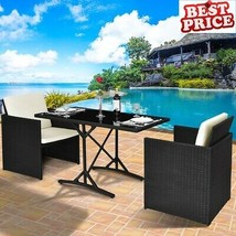 Patio Furniture Clearance Sets Rattan Wicker Garden Dining Table Chairs ... - $288.77