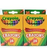 Crayola 24 Count Box of Crayons Non-Toxic Coloring School Supplies (2 Pa... - $11.09