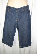 GAP Sz 6 Dark Blue Jean 100% Cotton Denim Knee Shorts - $9.49