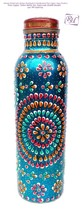 Hand Painted Art work Pure Copper Water Bottle (Joint Free & leak proof)... - $21.67