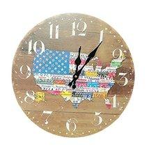 George Jimmy Fashion Decent American Map Retro Silence Hanging Clock - $36.02