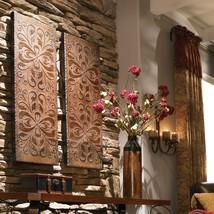 "PAIR DESIGNER XXL 41"" MEDITERRANEAN WALL ART DECOR PANELS TUSCAN DECOR C... - $327.80"