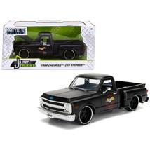 1969 Chevrolet C10 Stepside Pickup Truck Matt Black Garage Nuts Just Tru... - $36.47