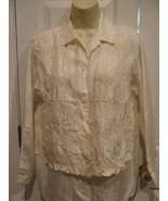 """NEW IN PKG FASHION OPTIONS Women's Blouse IVORY 100"""" Silk  TOP  SIZE 6  - $39.59"""