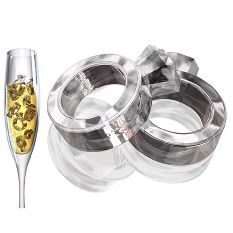 Ice Cube Tray Diamond Ring Freeze Mold Special Party Wedding Ice Maker Gift Tool