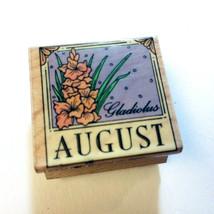 Gladiolus August Birthday Flower Rubber Stamp Calendar Month Hero Arts 1995 Rare - $9.88