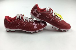 New Under Armour Football Highlight Nitro Football Cleat Low Men's 9 Red... - $45.04