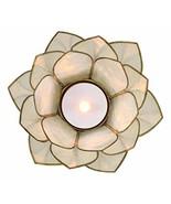Ebros Hand Crafted Capiz Seashells Auspicious Lotus Flower Votive Tea Li... - €13,74 EUR
