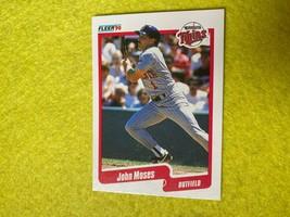 Baseball Trading Card Fleer 1990 #381 John Moses (SS67) - $4.17