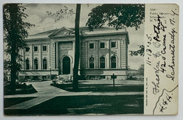Old Undivided Back 1905 Postcard Early View Public Library Schenectady, ... - $24.45
