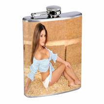 Alabama Pin Up Girls D15 Flask 8oz Stainless Steel Hip Drinking Whiskey - $12.82