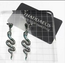 THADDEUS St Thomas Style Sterling Silver Snake Dangle Drop Earrings [EAR- - $22.44