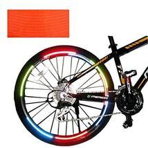 PANDA SUPERSTORE [ORANGE] Unique Colour 6 Pics Reflective Bike Rim Sticker Wheel