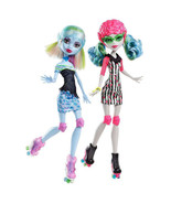 """Year 2012 Monster High Roller Maze 10"""" Doll Ghoulia Yelps and Abbey Bomi... - $89.99"""