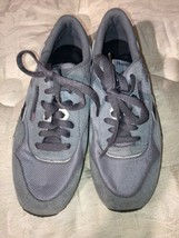 Used Reebok Gray Womens Running Sneakers Shoes US sz 6.5 Lace Up Classic - $37.95
