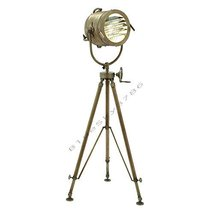 """Vintage Designs 78"""" Aluminum Searchlight Adjustable Tripod Floor Lamp  - $199.00"""